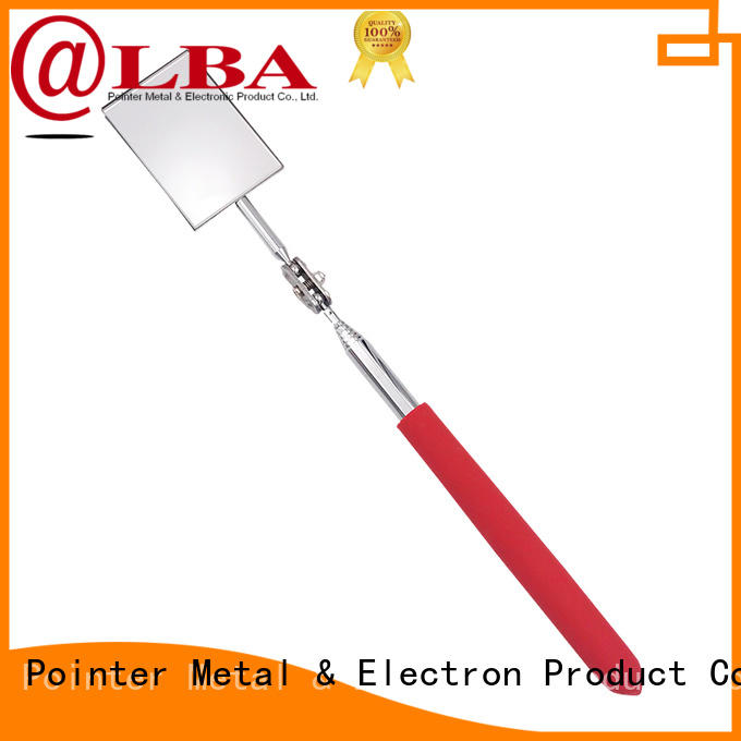 customized telescoping inspection mirror steel promotion for vehicle checking