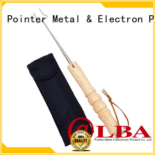 secure stainless steel skewers handle promotionfor BBQ