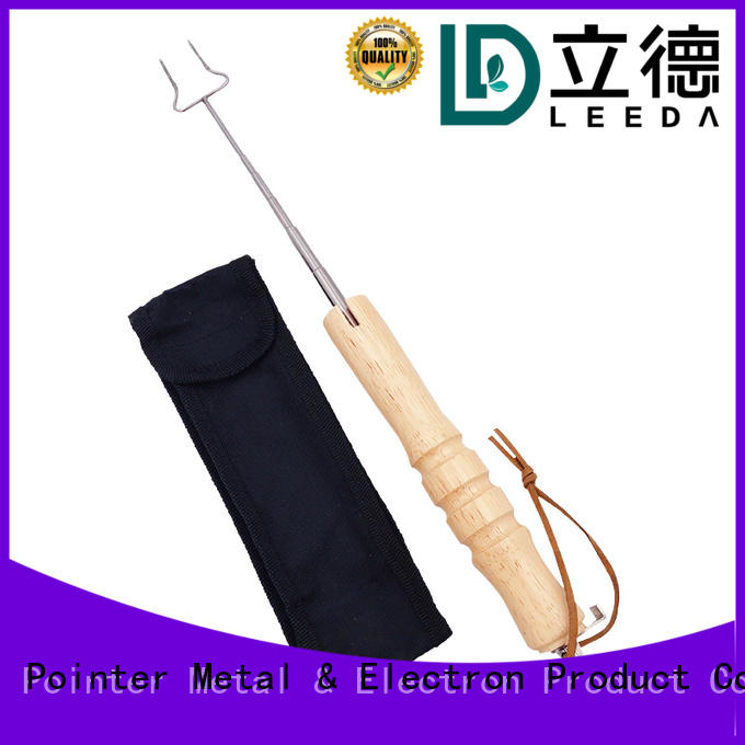 Bangda Telescopic Pole secure metal kabob skewers beef for barbecue