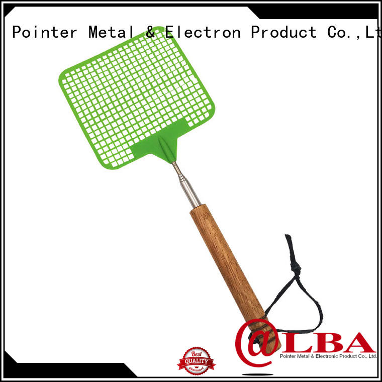 multi function extendable fly swatter wooden wholesale for market