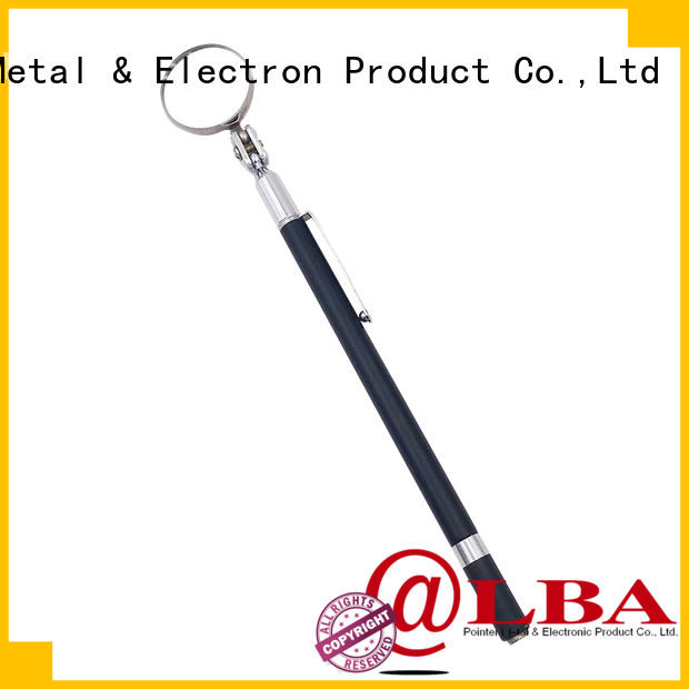 lighted telescoping inspection mirror mini for workplace Bangda Telescopic Pole